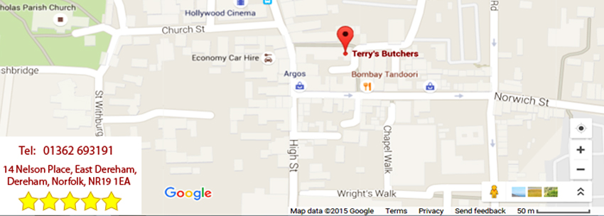 Terry's Butchers Dereham, 14 Nelson Place, East Dereham, Norfolk, NR19 1EA